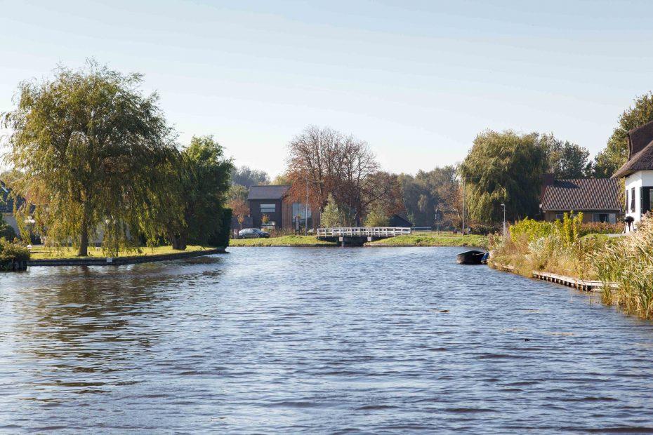 Foto van brug over de Molensloot, Den Ilp, Ilperveld. F.L.Snijders