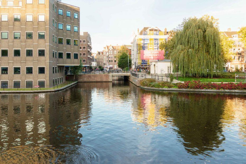 Foto van de brug naar de Lijnbaansgracht, F.L.Snijders