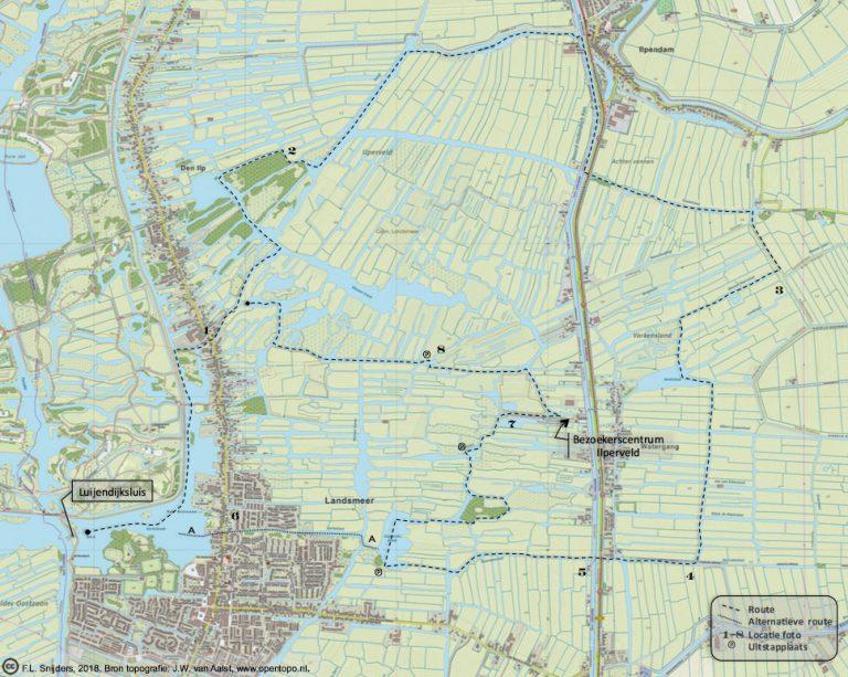 Gedetailleerde kaart van vaarroute #4: Ilperveld en Varkensland