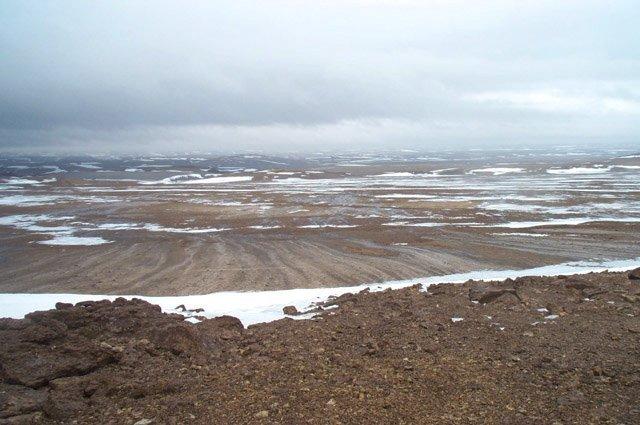 Foto van een poolwoestijn