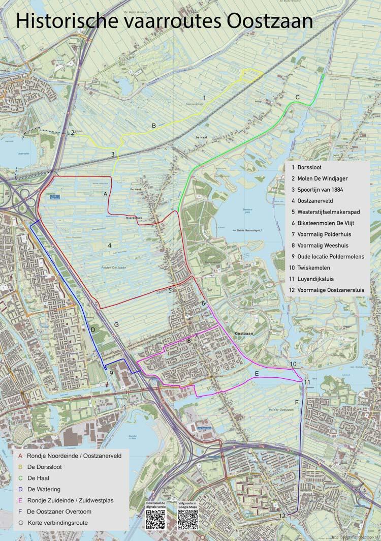 Link naar kaart/beschrijving Historische vaarroutes OOstzaan