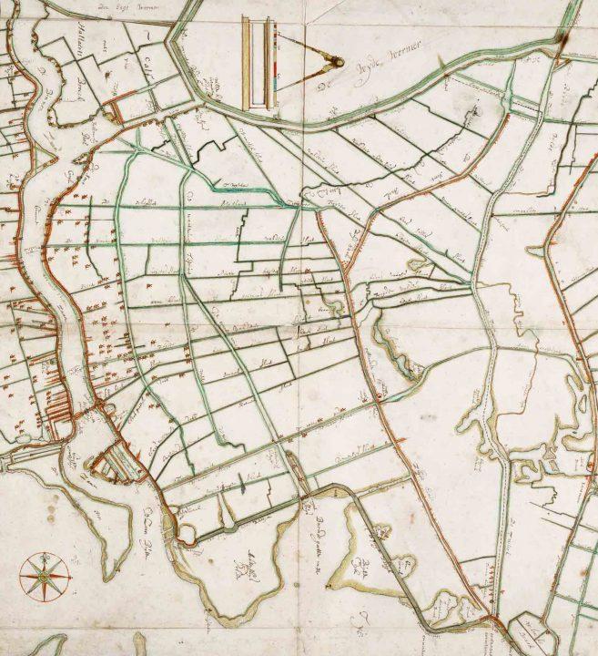 Kaart Leupenius 1693 Polder Oostzaan