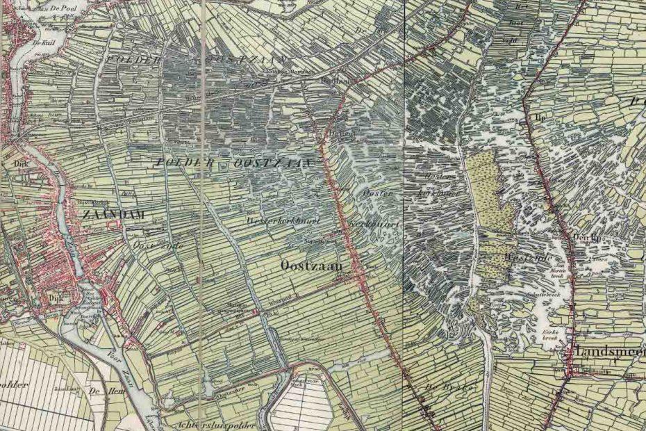 Topografische kaart Oostzaan e.o. 1900