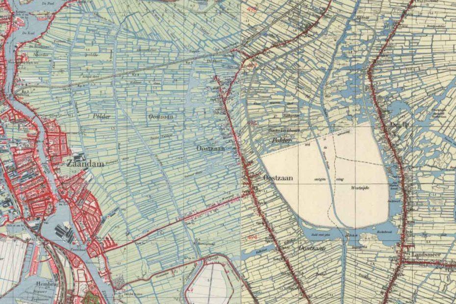 Topografische kaart Oostzaan e.o. 1950