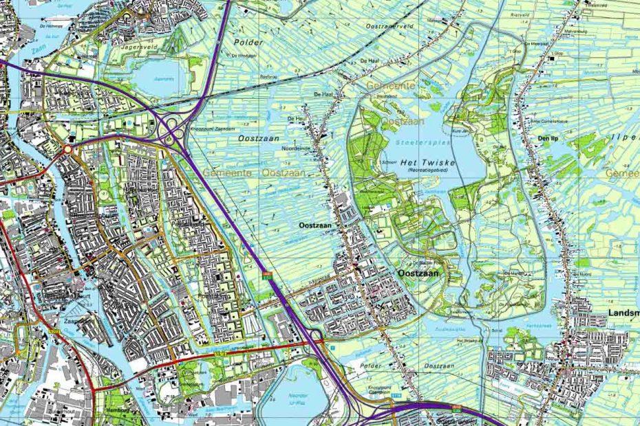 Topografische kaart Oostzaan e.o. 2000