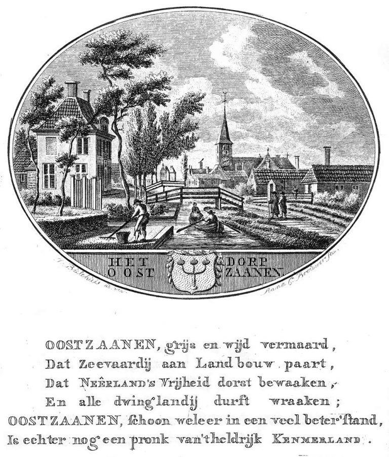 Tekening Het Dorp Oostzaanen, ca 1792