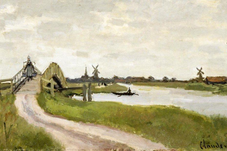 Weerpad, schilderij Claude Monet 1872