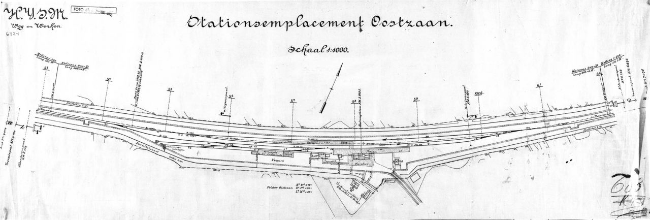 Tekening van Station Oostzaan