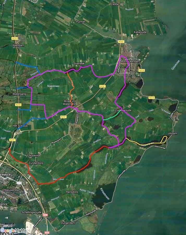 GoogleMaps versie van de route