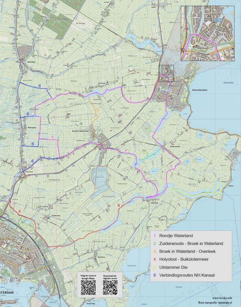 Thumb van gedetailleerde routekaart