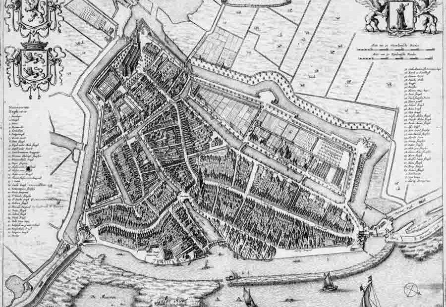 Kaart Monnickendam, circa 1700