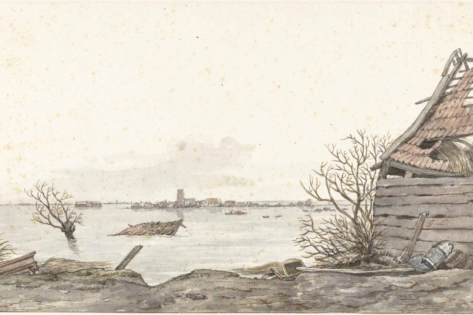 Tekening overstroomd Ransdorp, 1825