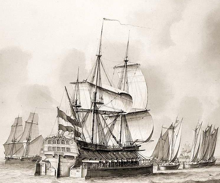 Tekening scheepskamelen, Gouden Eeuw